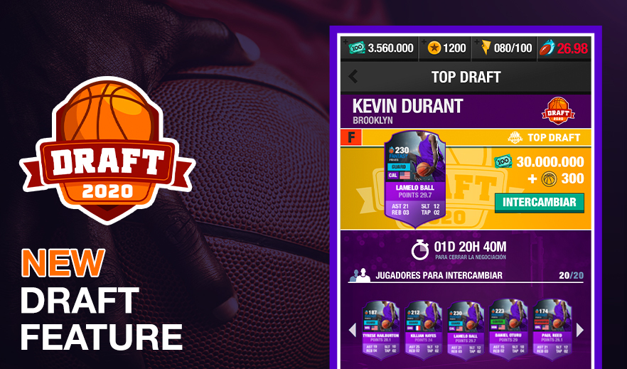 BASKETBALL FANTASY MANAGER - DRAFT FEATURE