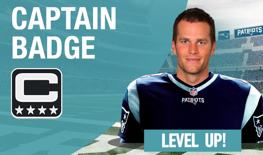 NFL MANAGER CAPTAIN BADGE