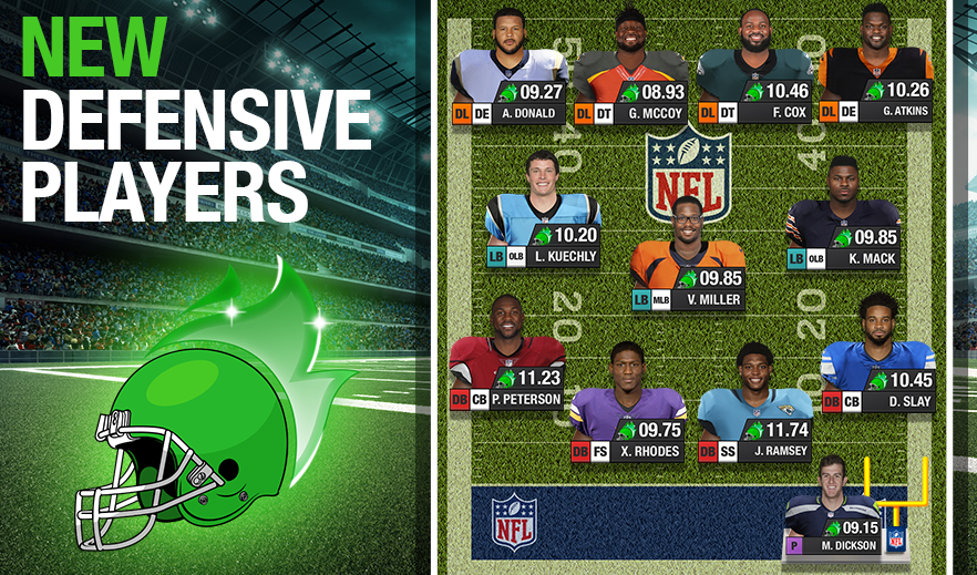 NFL MANAGER NEW DEFENSIVE PLAYERS